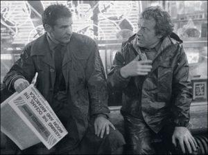 """סקוט והאריסון פורד על הסט של """"בלייד ראנר"""""""